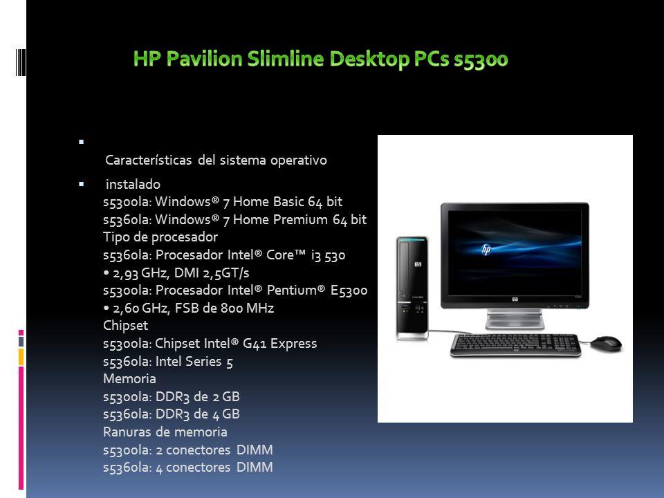 HP Pavilion Slimline Desktop PCs s5300