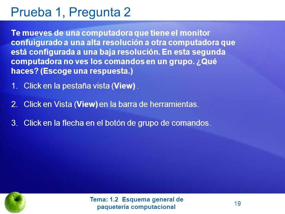 Tema: 1.2 Esquema general de paquetería computacional