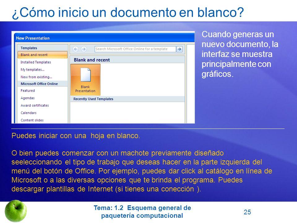 ¿Cómo inicio un documento en blanco