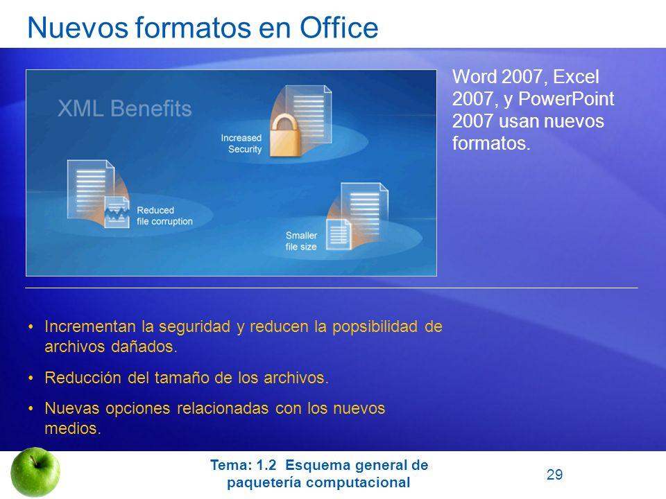 Nuevos formatos en Office