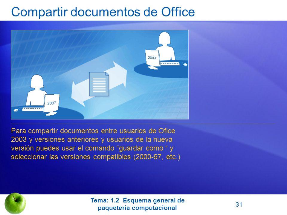 Compartir documentos de Office