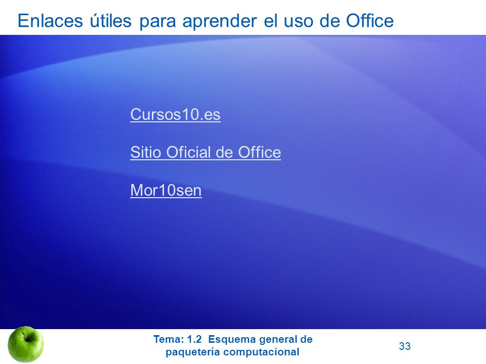 Enlaces útiles para aprender el uso de Office