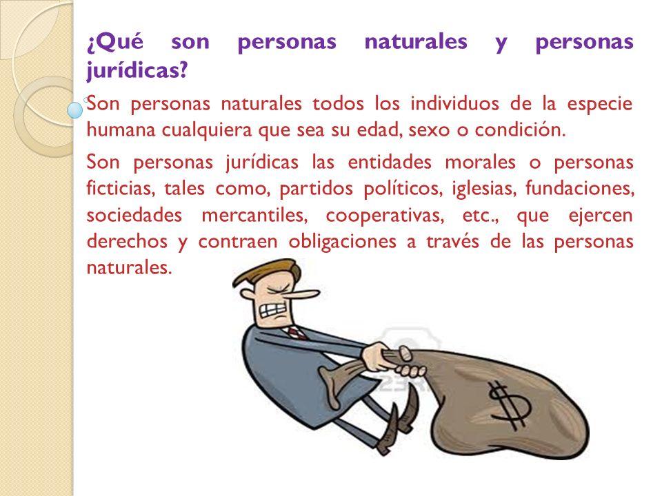 ¿Qué son personas naturales y personas jurídicas