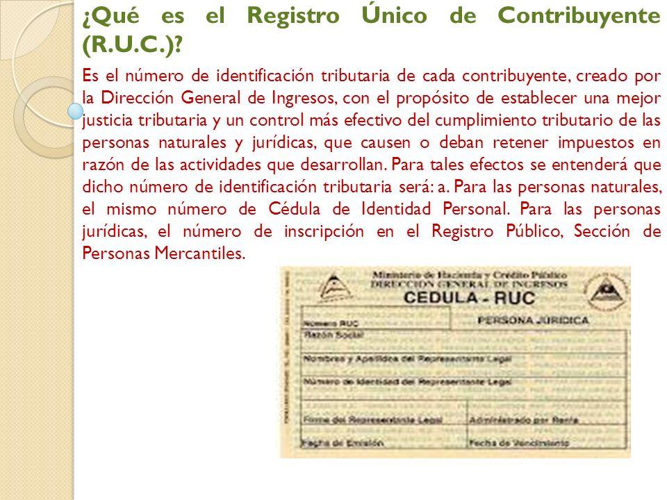 ¿Qué es el Registro Único de Contribuyente (R.U.C.)