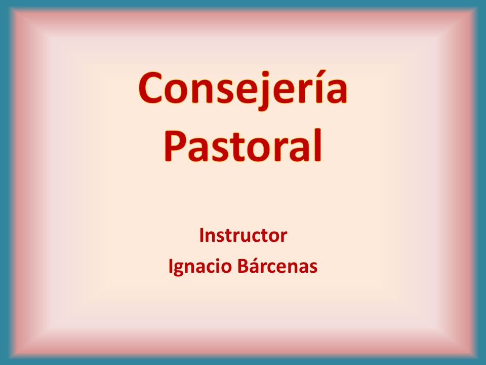 Instructor Ignacio Bárcenas