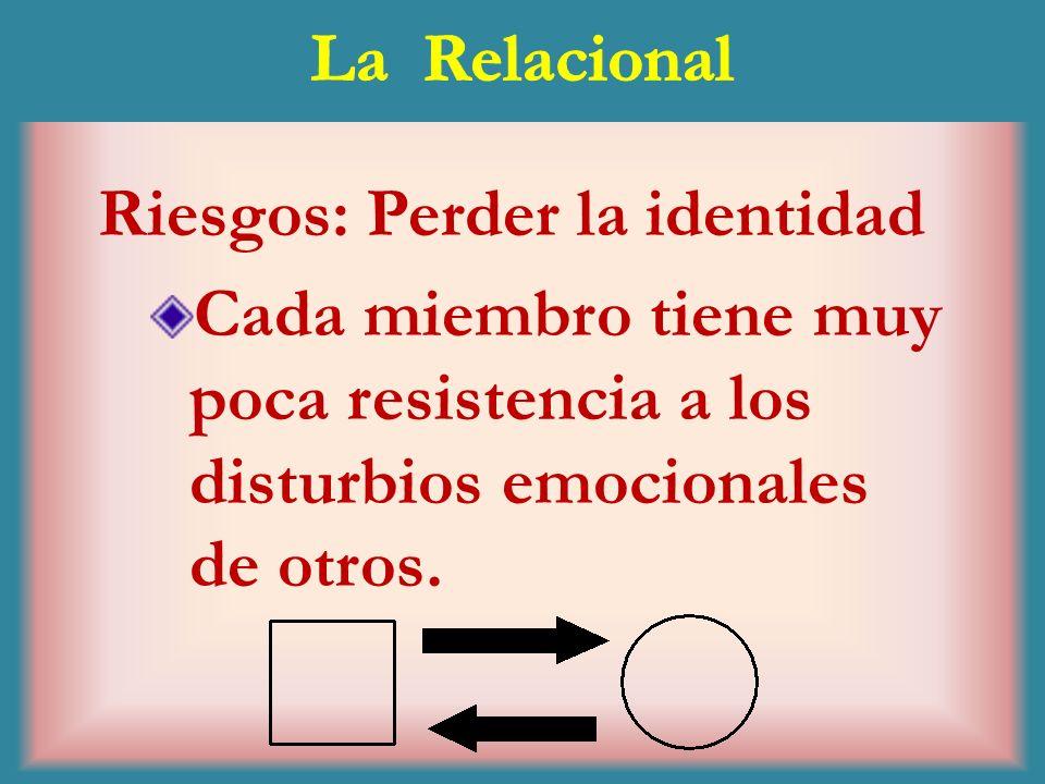 La RelacionalRiesgos: Perder la identidad.