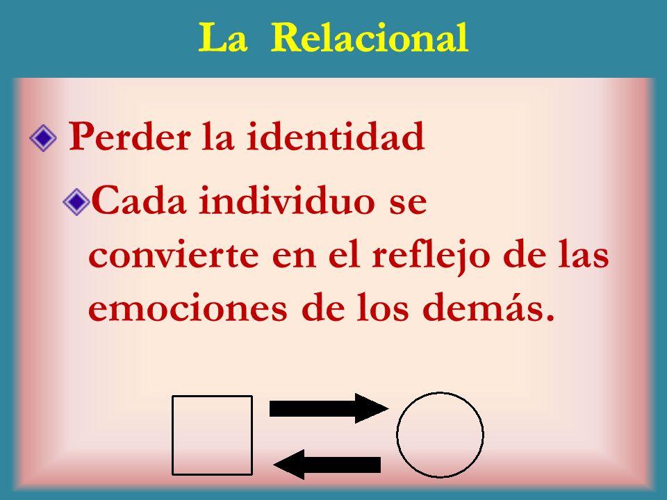 La RelacionalPerder la identidad.