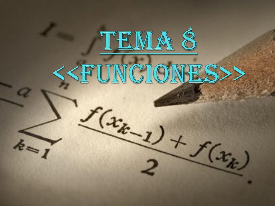 TEMA 8 <<FUNCIONES>>