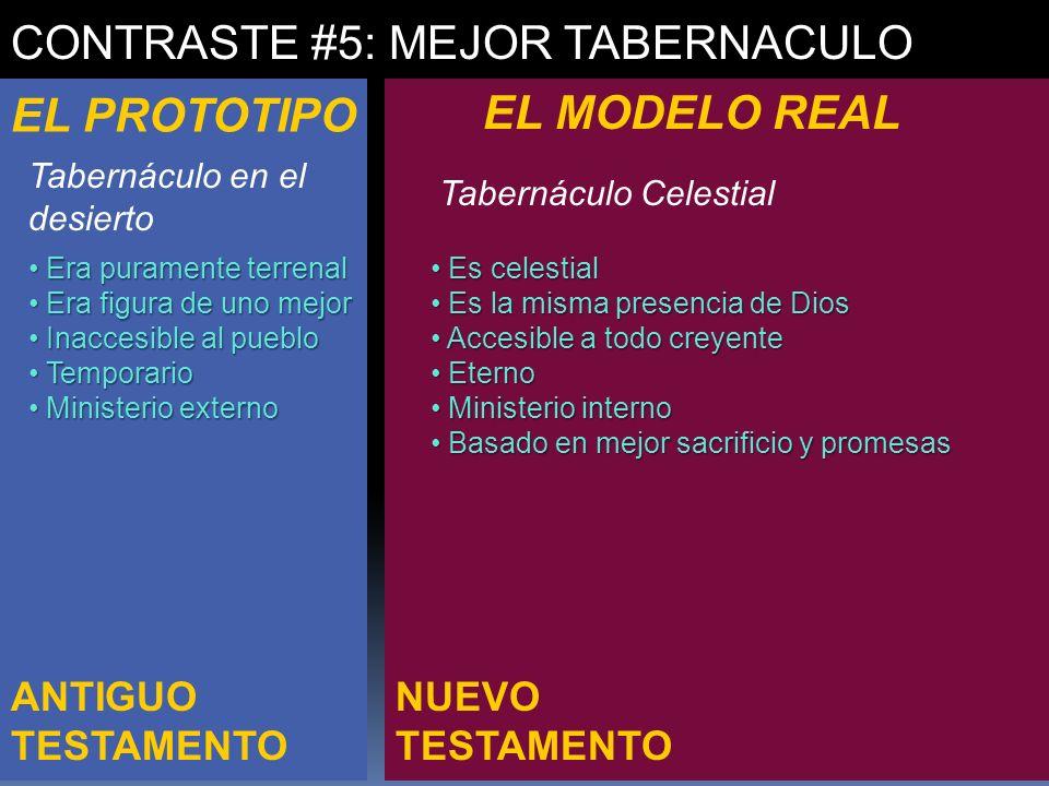 CONTRASTE #5: MEJOR TABERNACULO