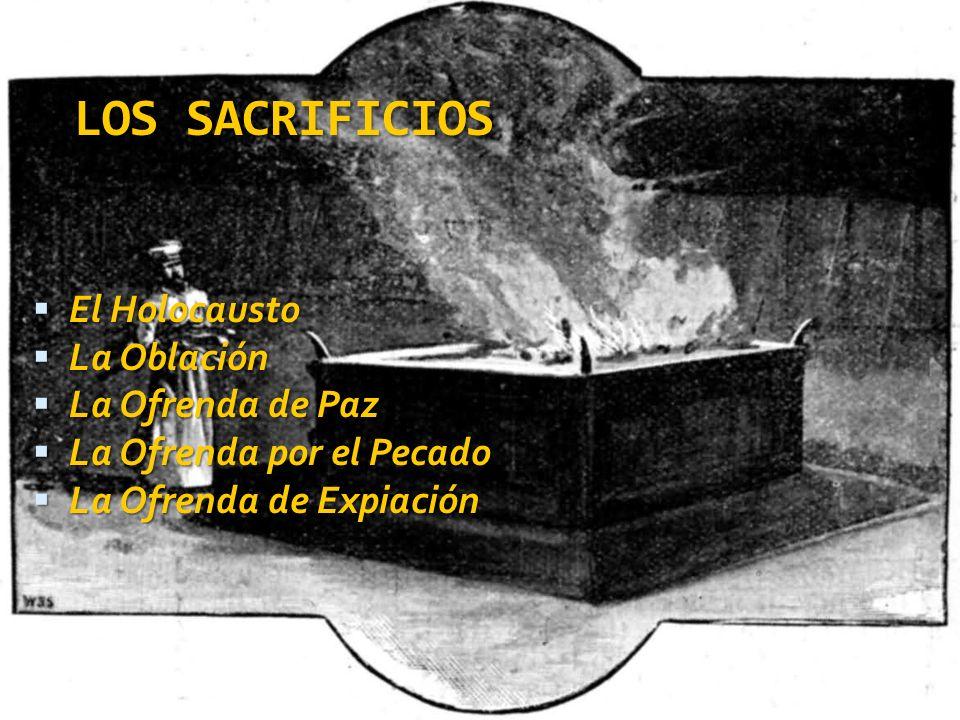 LOS SACRIFICIOS El Holocausto La Oblación La Ofrenda de Paz