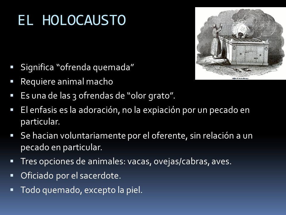 EL HOLOCAUSTO Significa ofrenda quemada Requiere animal macho