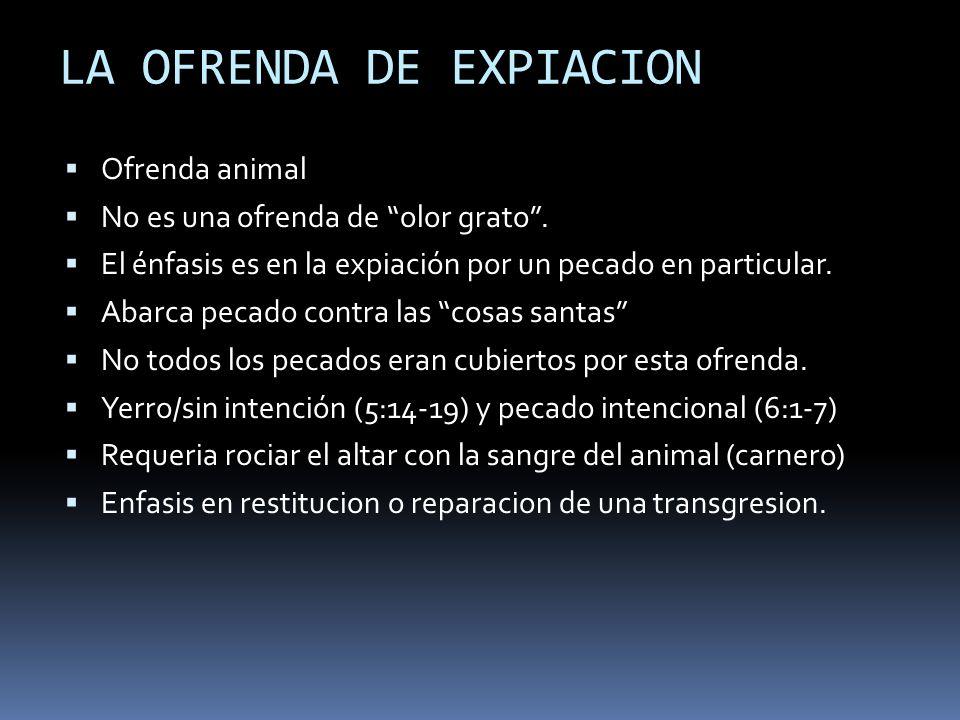 LA OFRENDA DE EXPIACION