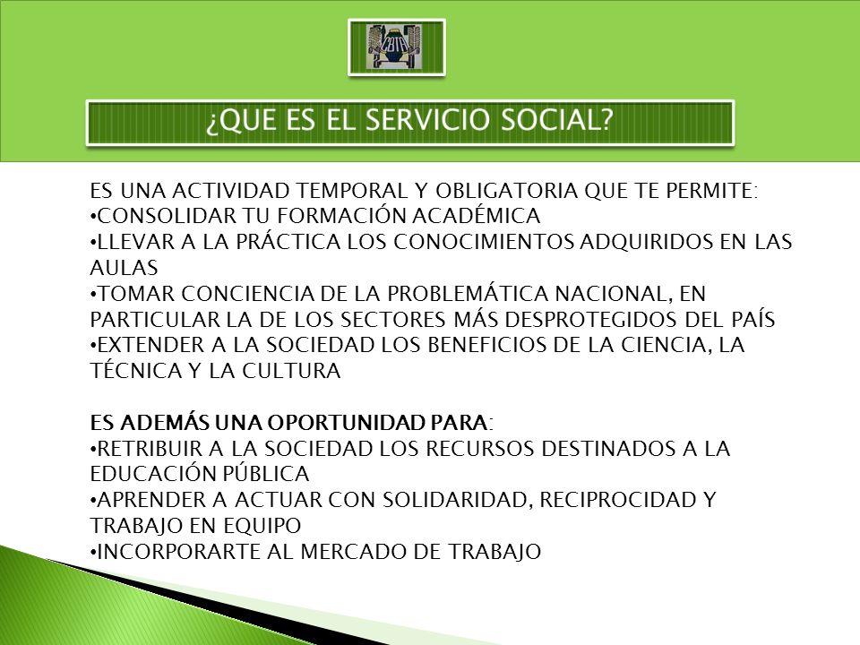¿QUE ES EL SERVICIO SOCIAL