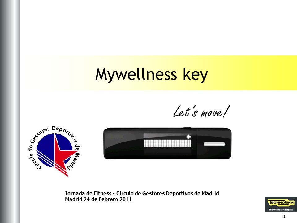 Let's move! Mywellness key