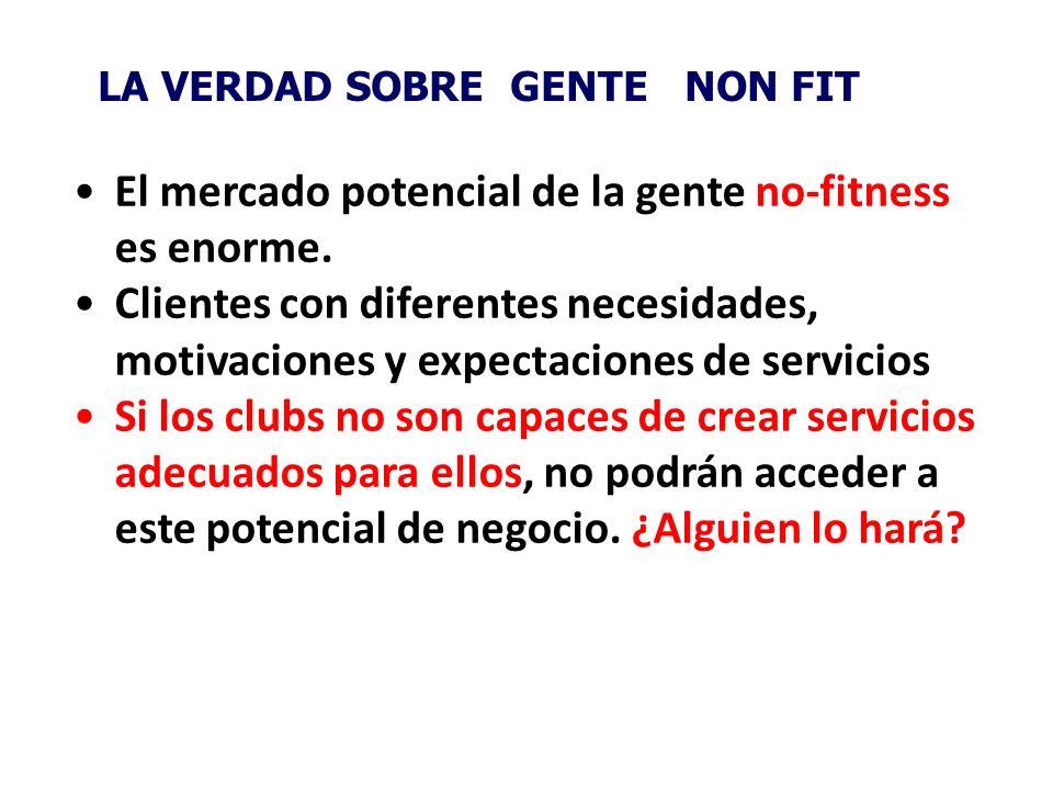 El mercado potencial de la gente no-fitness es enorme.