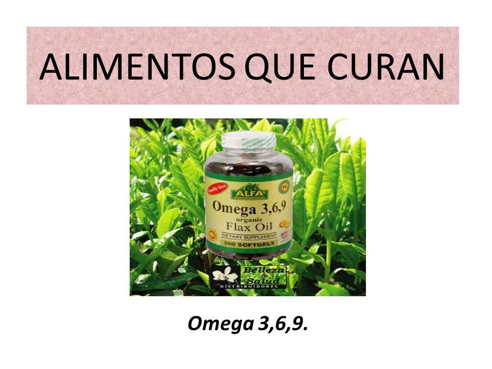 ALIMENTOS QUE CURAN Omega 3,6,9.