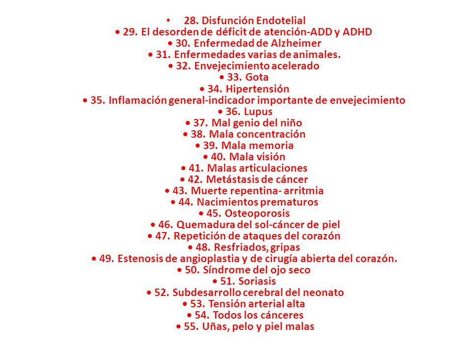 28. Disfunción Endotelial • 29