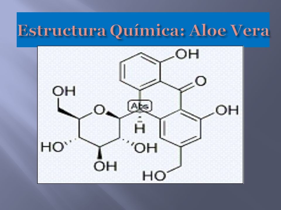 Estructura Química: Aloe Vera