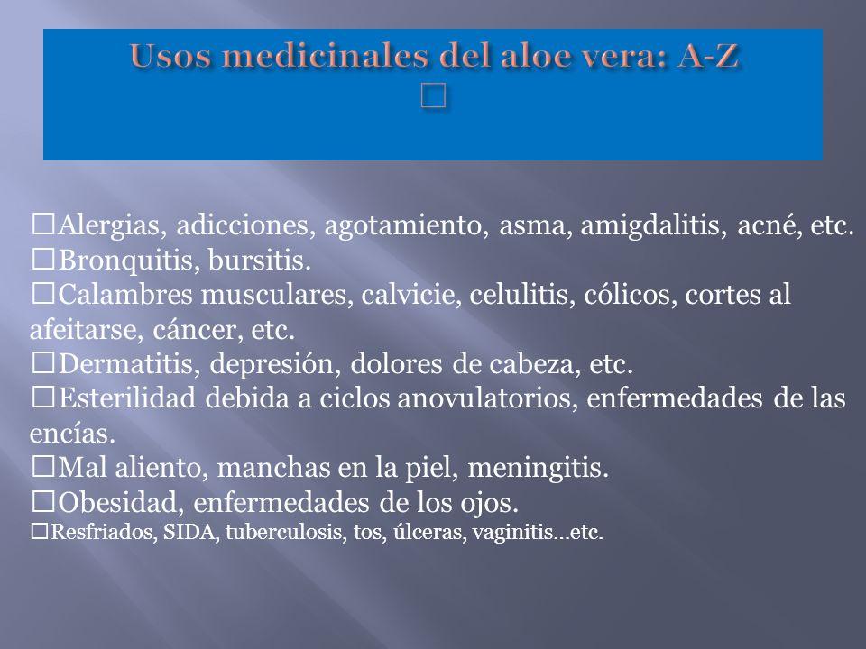 Usos medicinales del aloe vera: A-Z —