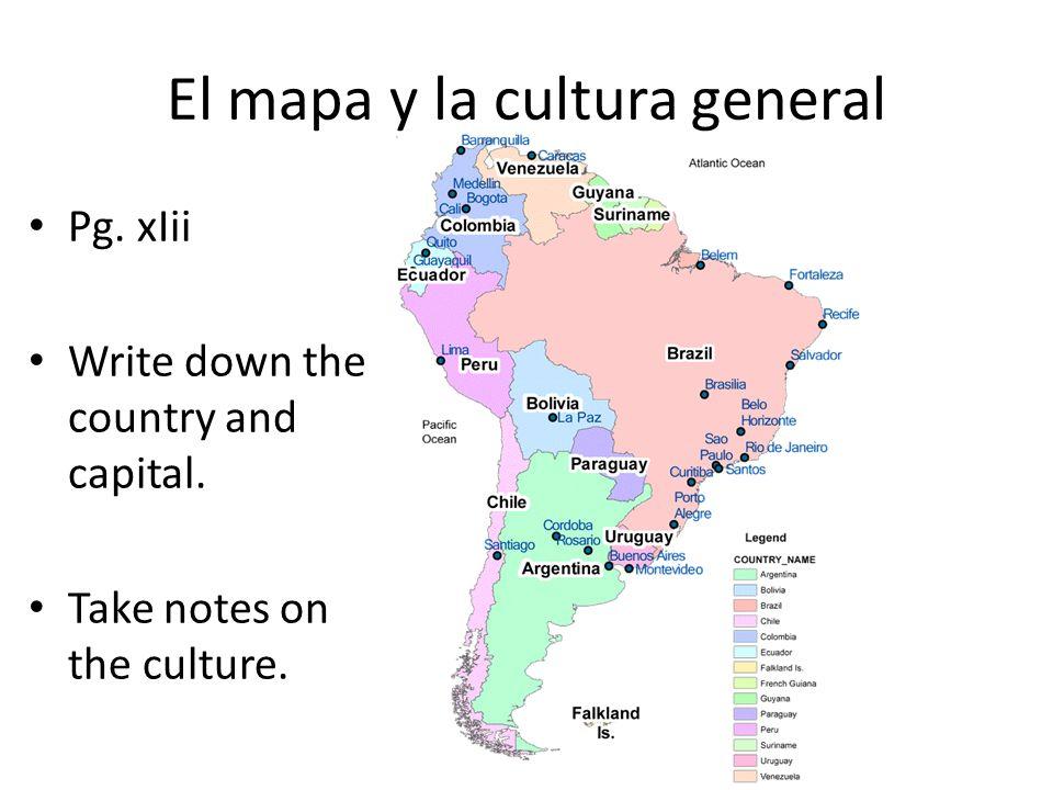 El mapa y la cultura general