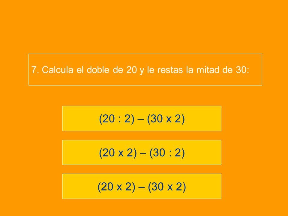 (20 : 2) – (30 x 2) (20 x 2) – (30 : 2) (20 x 2) – (30 x 2)
