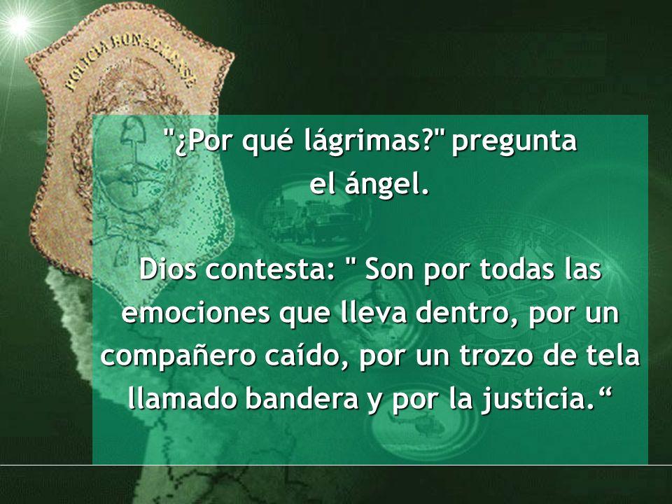 ¿Por qué lágrimas. pregunta el ángel