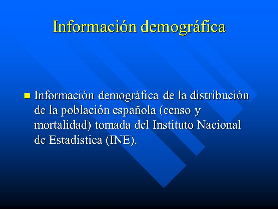 Información demográfica