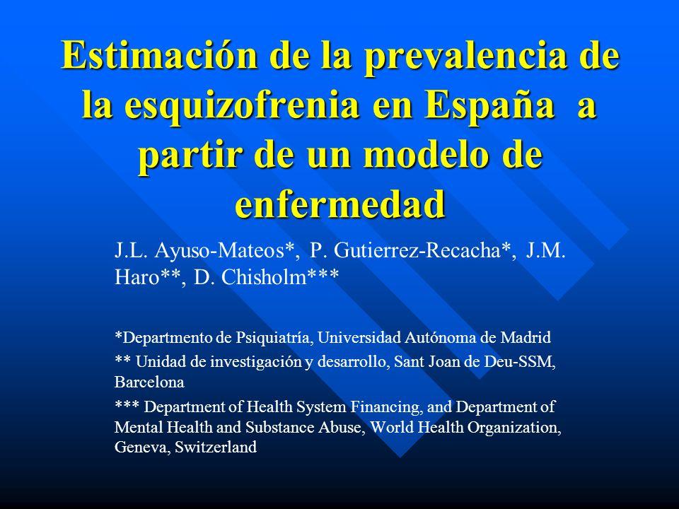 Estimación de la prevalencia de la esquizofrenia en España a partir de un modelo de enfermedad
