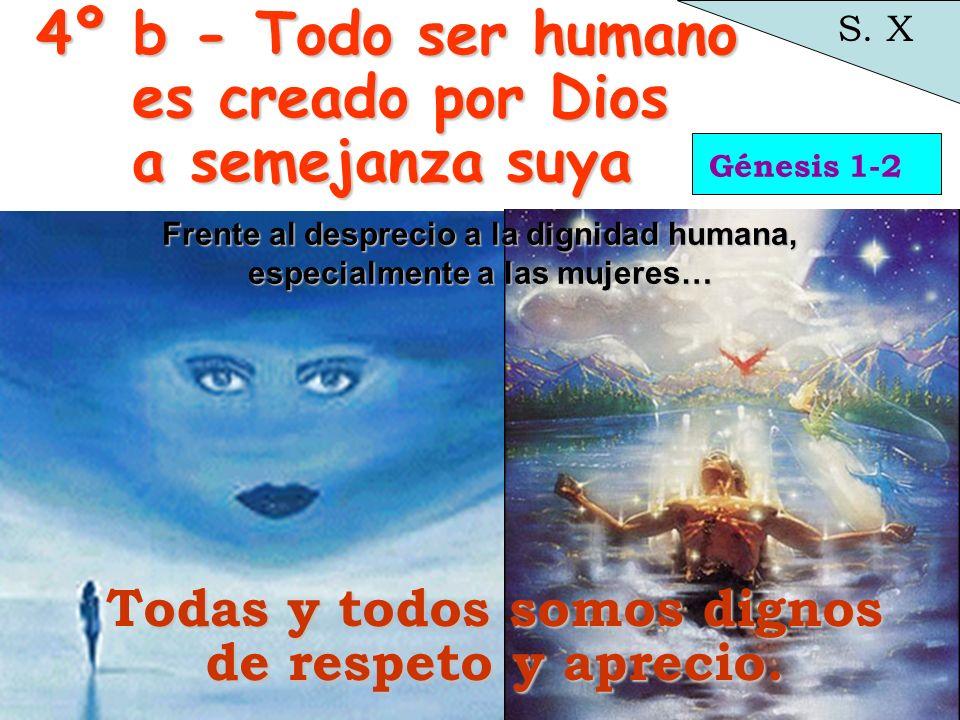 4º b - Todo ser humano es creado por Dios a semejanza suya