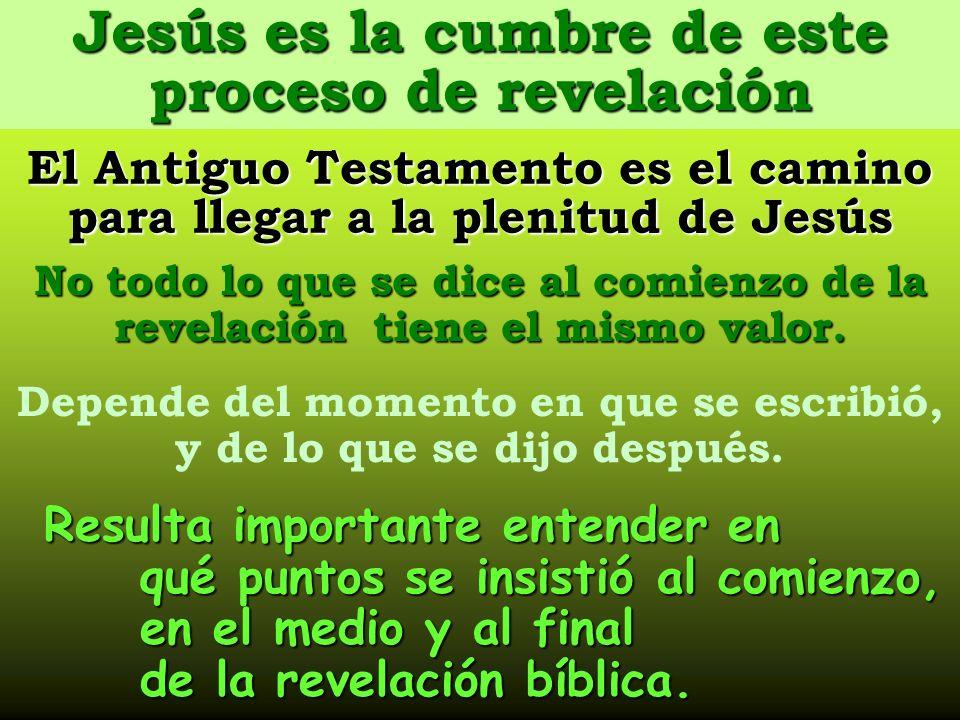 Jesús es la cumbre de este proceso de revelación