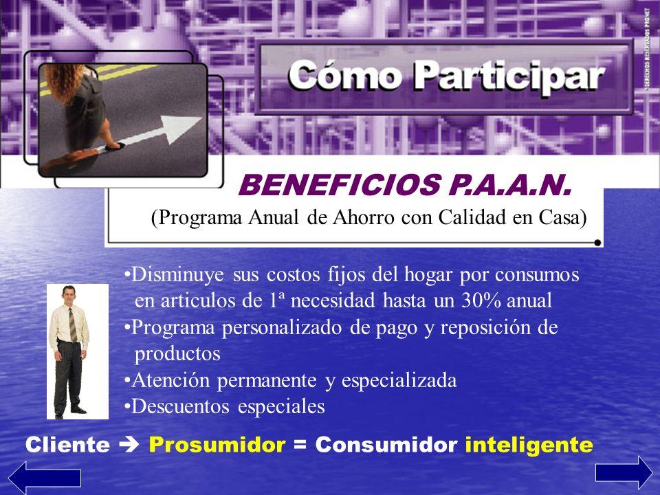 BENEFICIOS P.A.A.N. (Programa Anual de Ahorro con Calidad en Casa)
