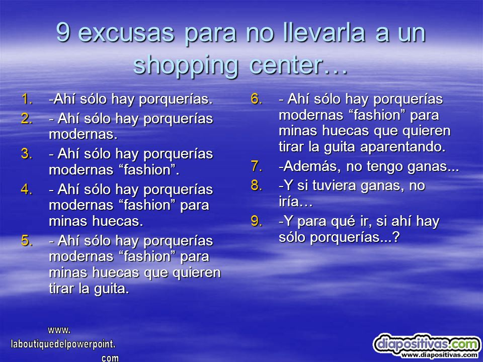 9 excusas para no llevarla a un shopping center…