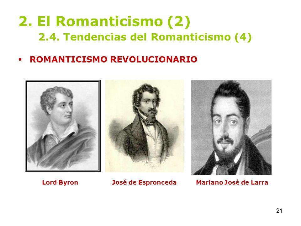 2. El Romanticismo (2) 2.4. Tendencias del Romanticismo (4)