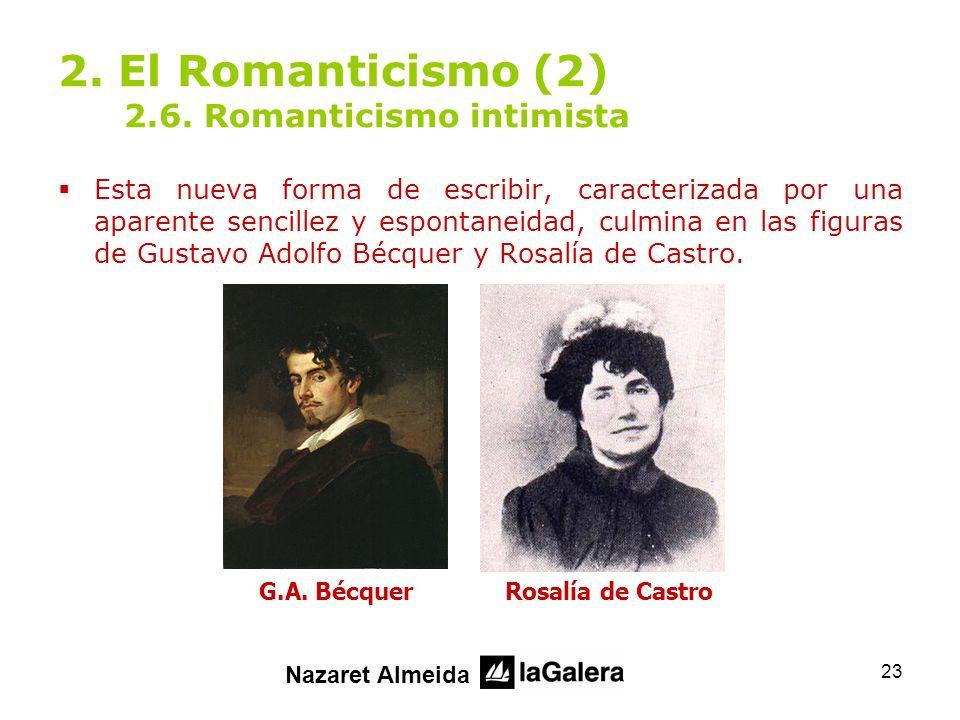2. El Romanticismo (2) 2.6. Romanticismo intimista