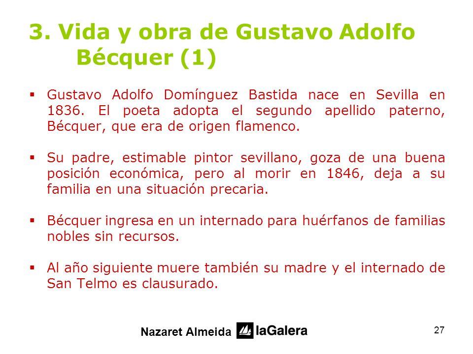 3. Vida y obra de Gustavo Adolfo Bécquer (1)