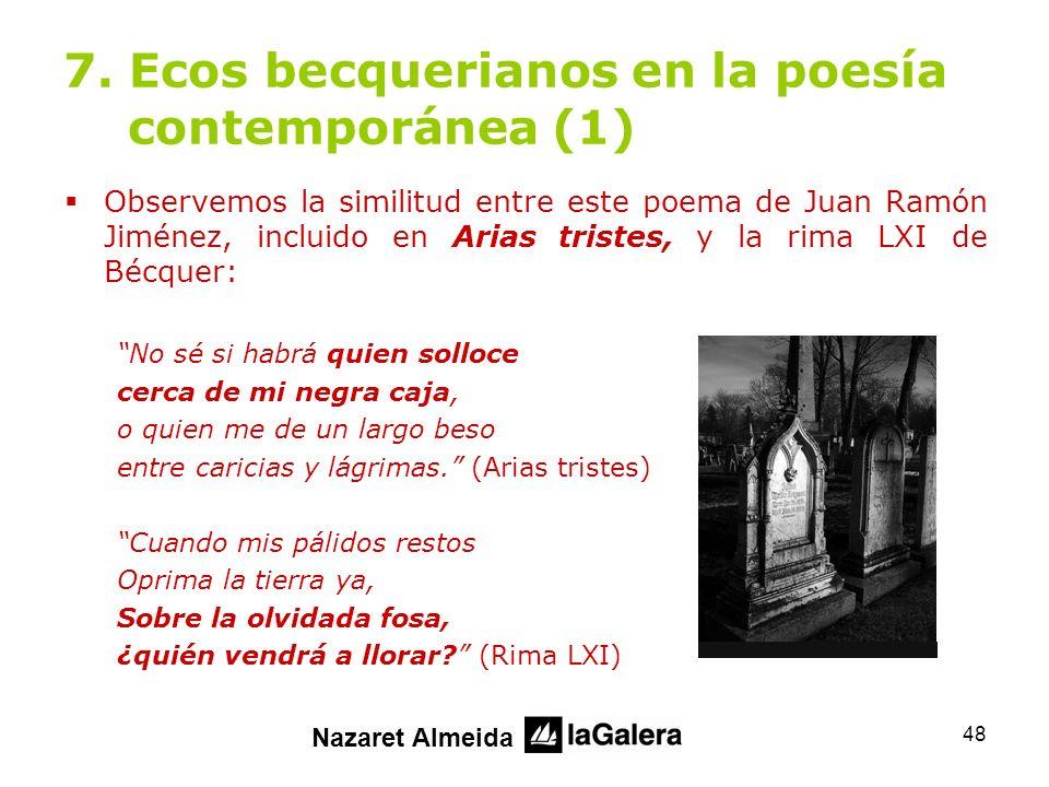 7. Ecos becquerianos en la poesía contemporánea (1)