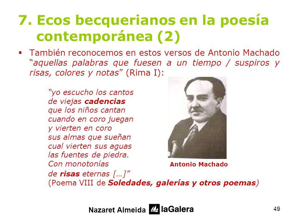 7. Ecos becquerianos en la poesía contemporánea (2)