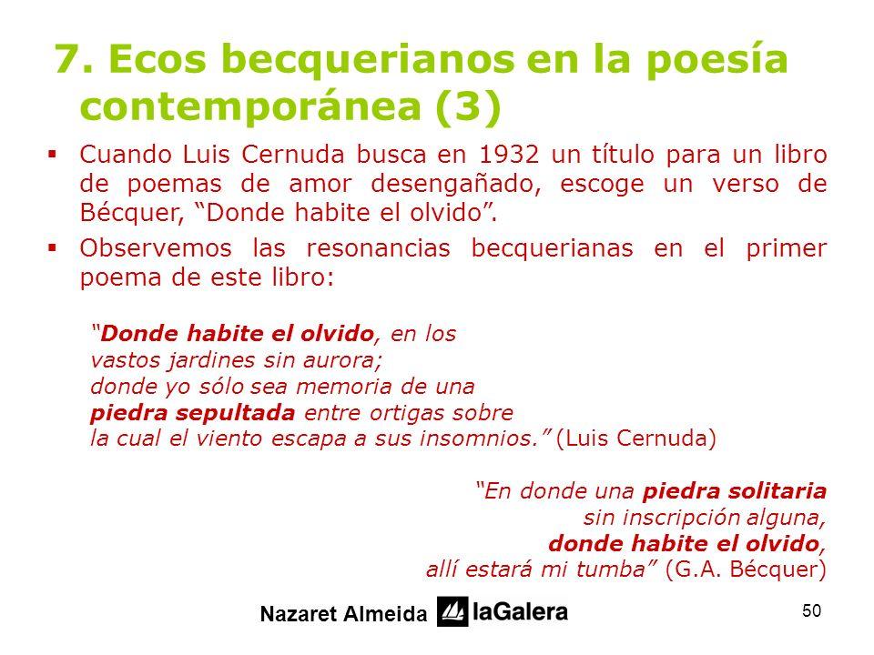 7. Ecos becquerianos en la poesía contemporánea (3)