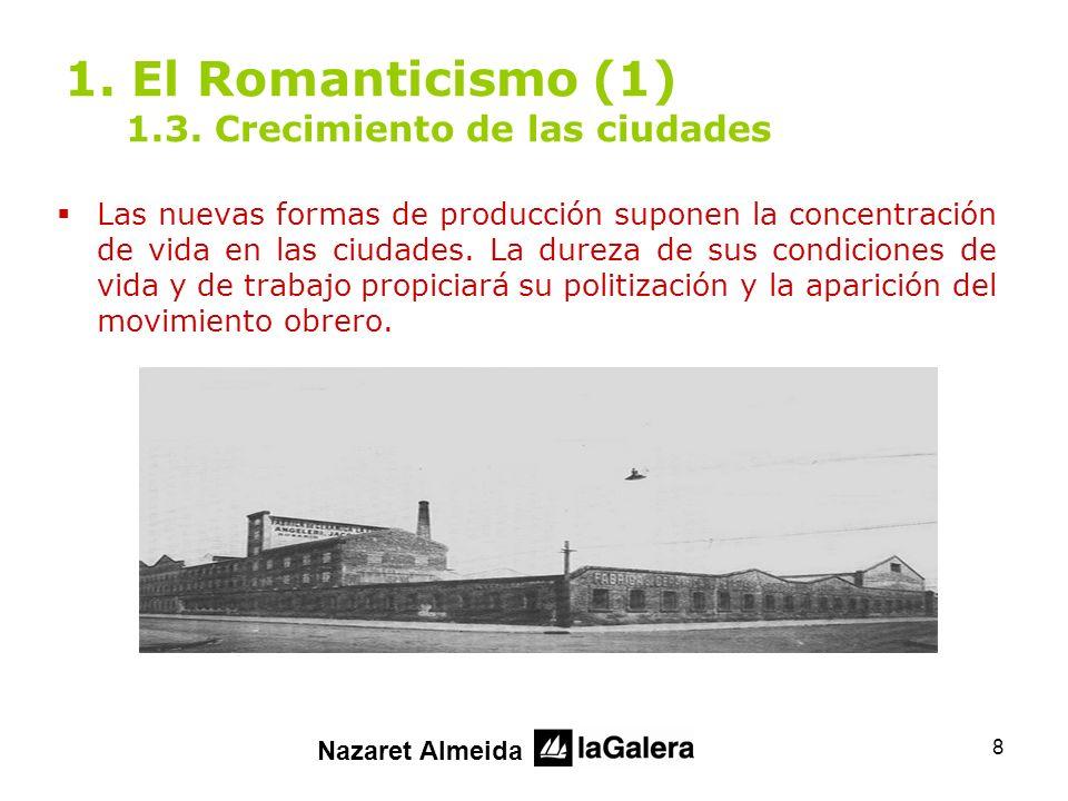 1. El Romanticismo (1) 1.3. Crecimiento de las ciudades