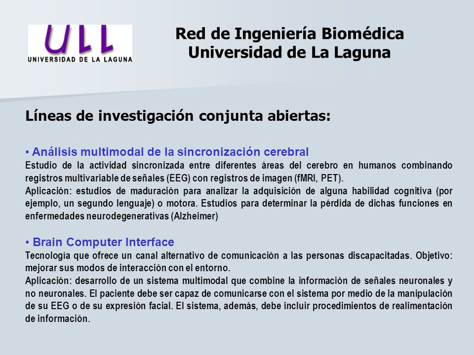 Red de Ingeniería Biomédica Universidad de La Laguna
