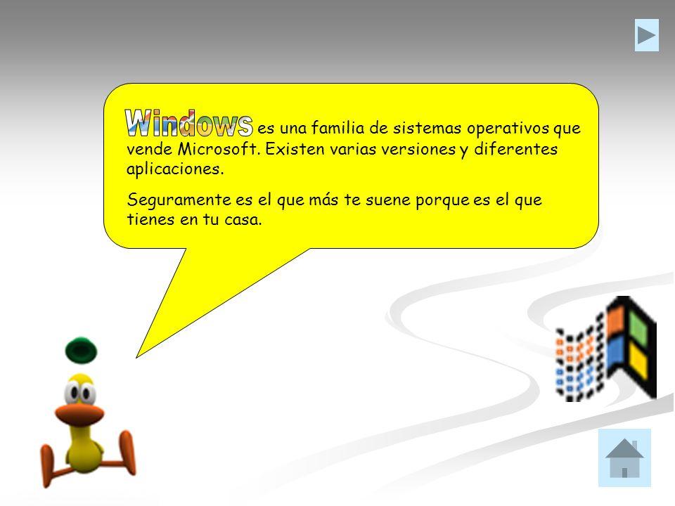 Windows es una familia de sistemas operativos que vende Microsoft. Existen varias versiones y diferentes aplicaciones.