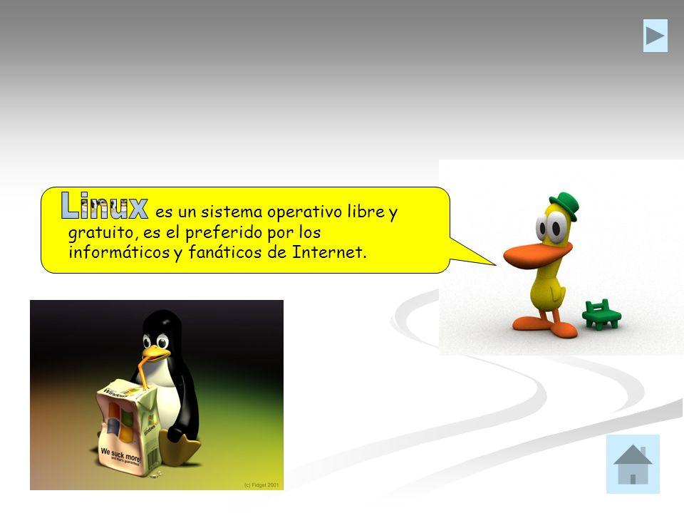 Linux es un sistema operativo libre y gratuito, es el preferido por los informáticos y fanáticos de Internet.