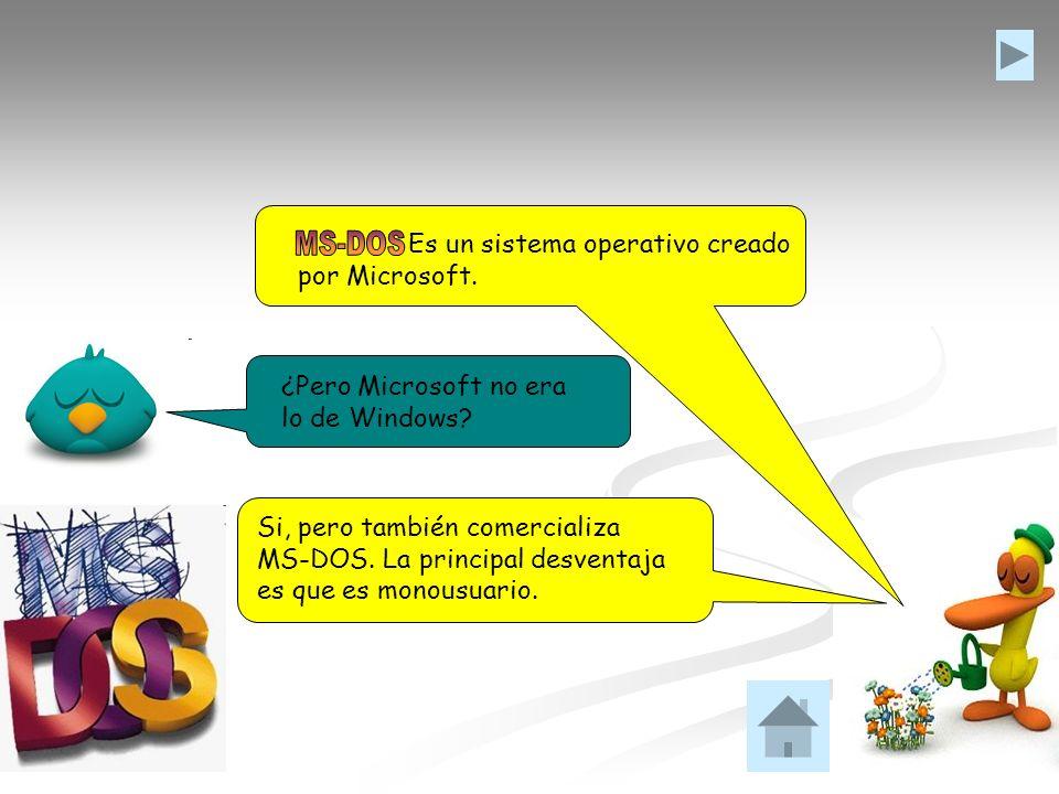 MS-DOS Es un sistema operativo creado por Microsoft.