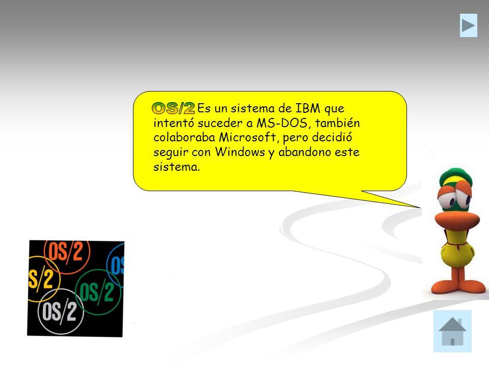 Es un sistema de IBM que intentó suceder a MS-DOS, también colaboraba Microsoft, pero decidió seguir con Windows y abandono este sistema.