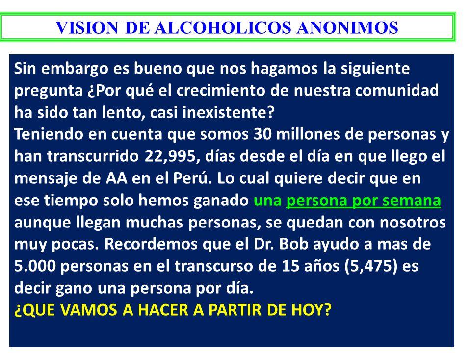 VISION DE ALCOHOLICOS ANONIMOS