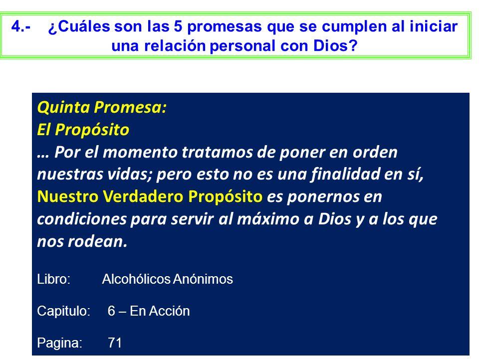 Quinta Promesa: El Propósito