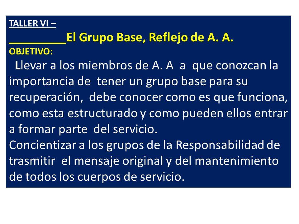 El Grupo Base, Reflejo de A. A.