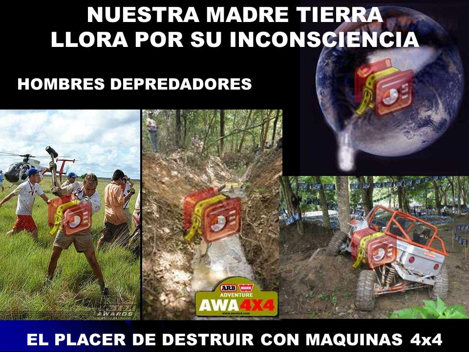 LLORA POR SU INCONSCIENCIA EL PLACER DE DESTRUIR CON MAQUINAS 4x4