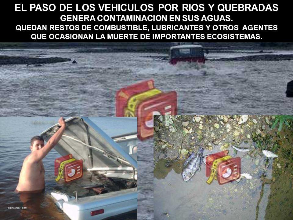 EL PASO DE LOS VEHICULOS POR RIOS Y QUEBRADAS