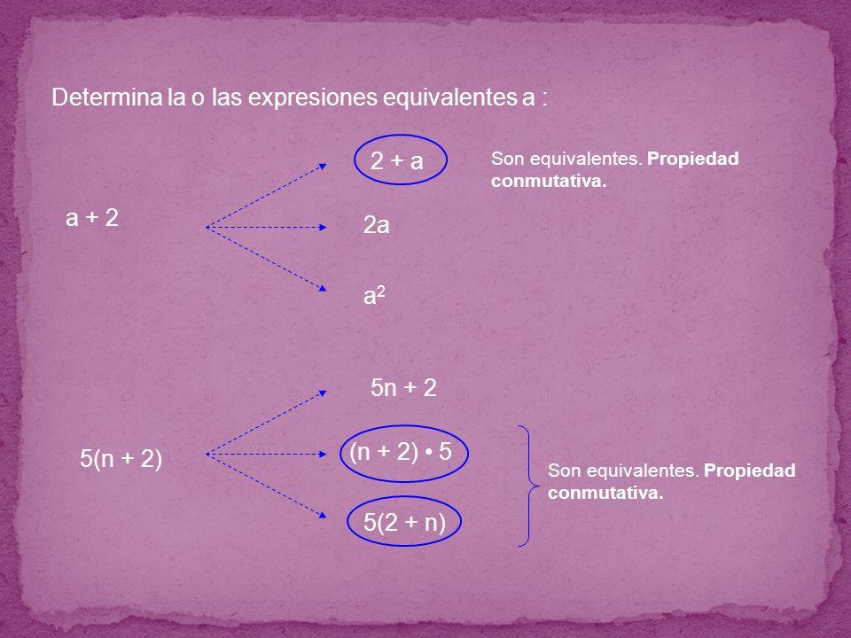 Determina la o las expresiones equivalentes a :